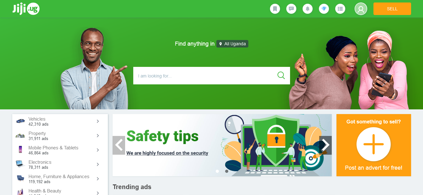 Jiji Uganda website