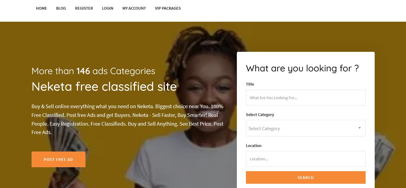 Neketa Website
