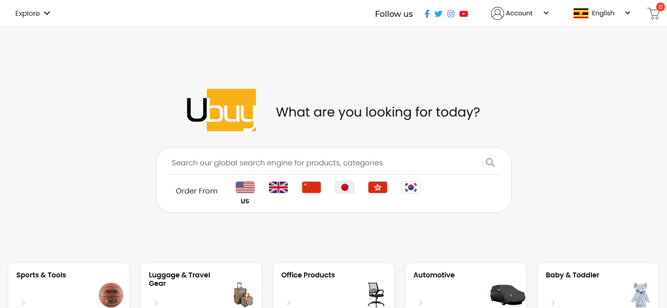 Ubuy Uganda website